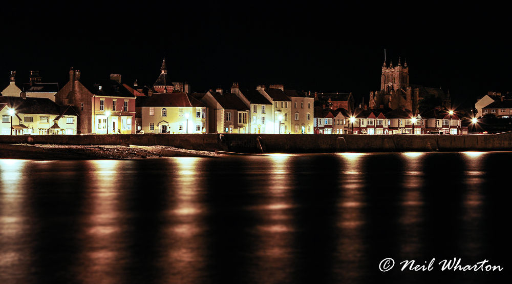 Photo in Landscape #neil wharton #canon #7d #hartlepool #england #uk #north east #north sea #headland #town #town wall #night #lights