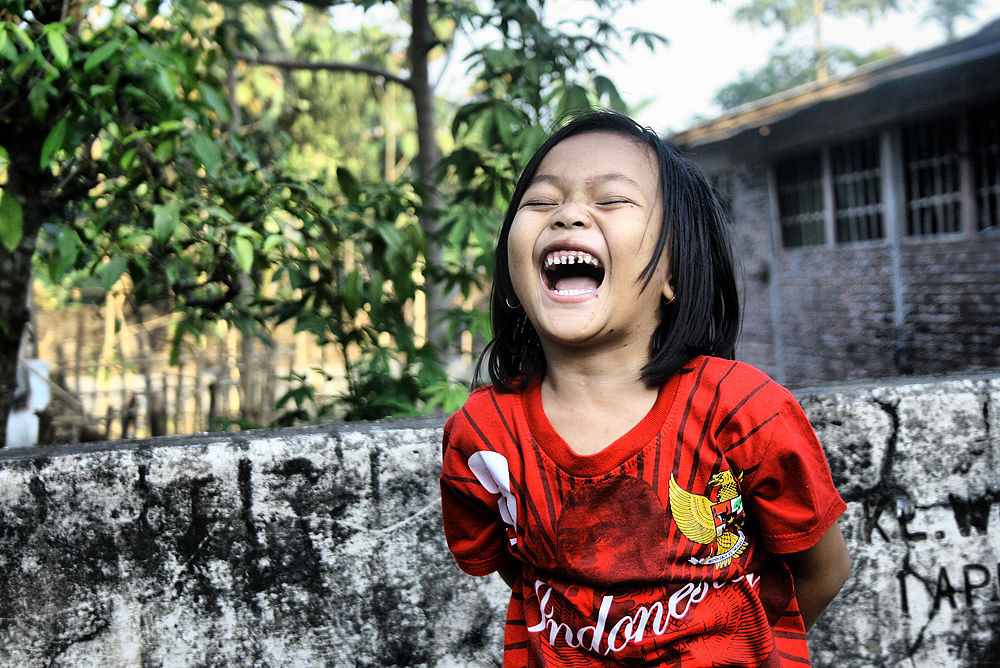 Photo in Random #laugh #little girl #happy #indonesian