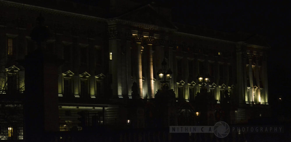 buckingham palace...a night view... by NithinCA Photography