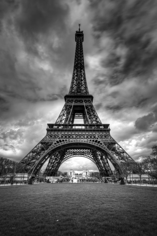 Photo in Landscape #eiffel tower #paris #hdr #black and white