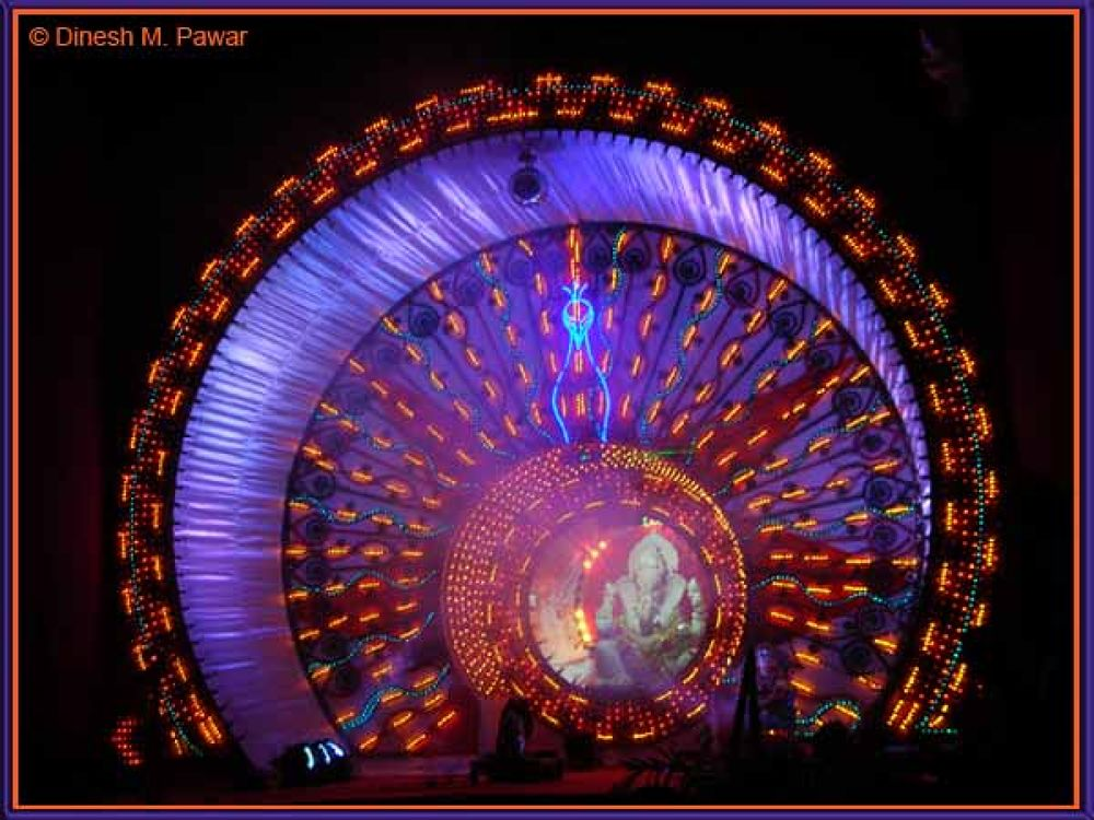 Lord Ganesha with Glorious Light Effect, Nashik by Dinesh M. Pawar