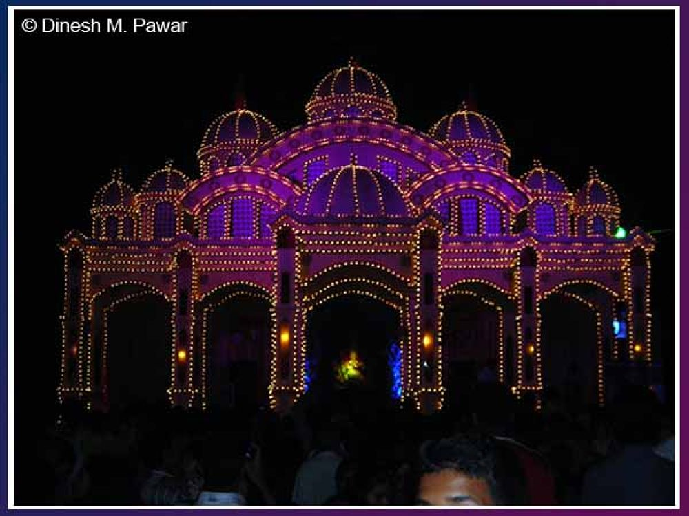 MICO Company's Set of Glorious Palace, Ganesh Festival 2013, Nashik, Maharashtra, India by Dinesh M. Pawar