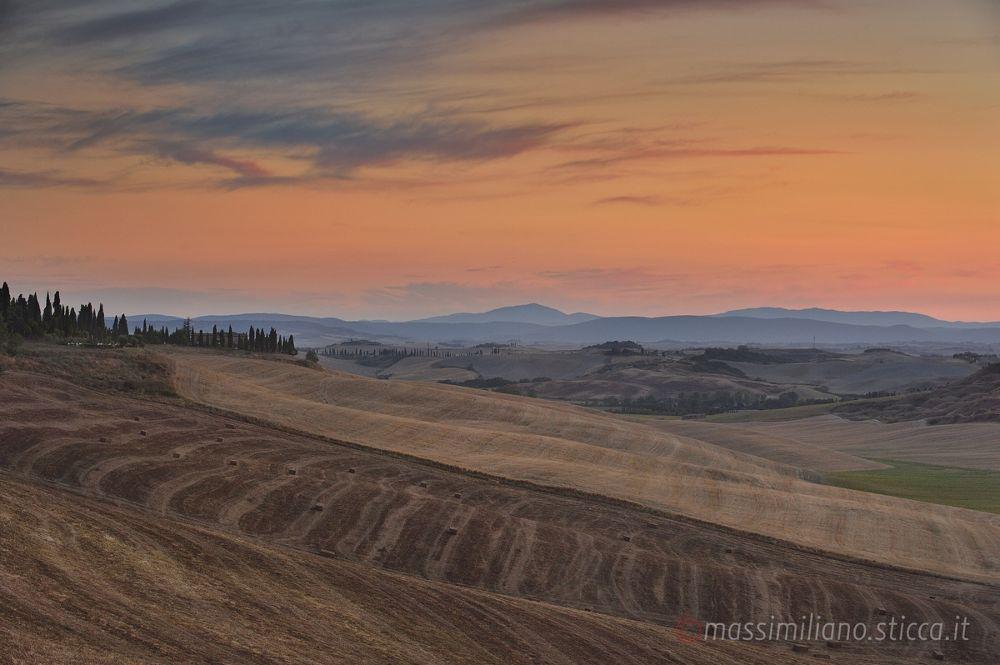 Photo in Landscape #toscana #asciano #crete senesi #landscape #sunset #hills #italy #tuscany