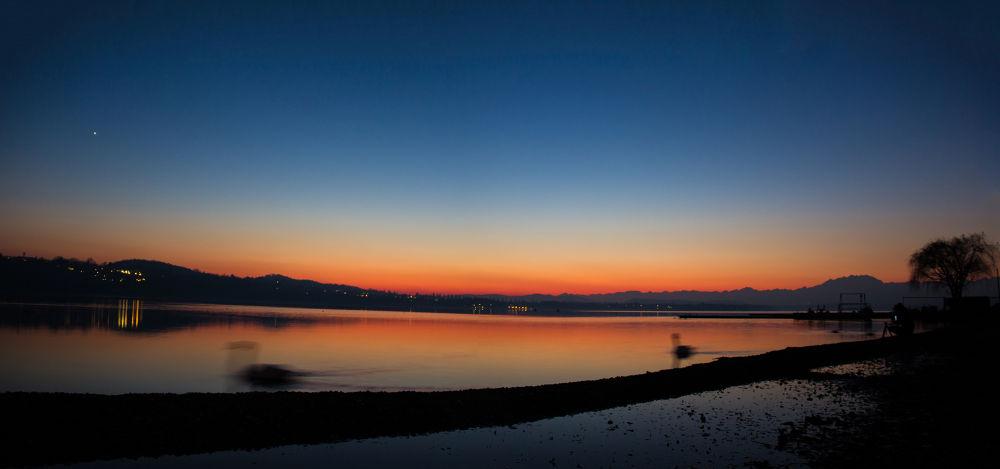 Sunset lake Varese (Italy) by Michela Botta
