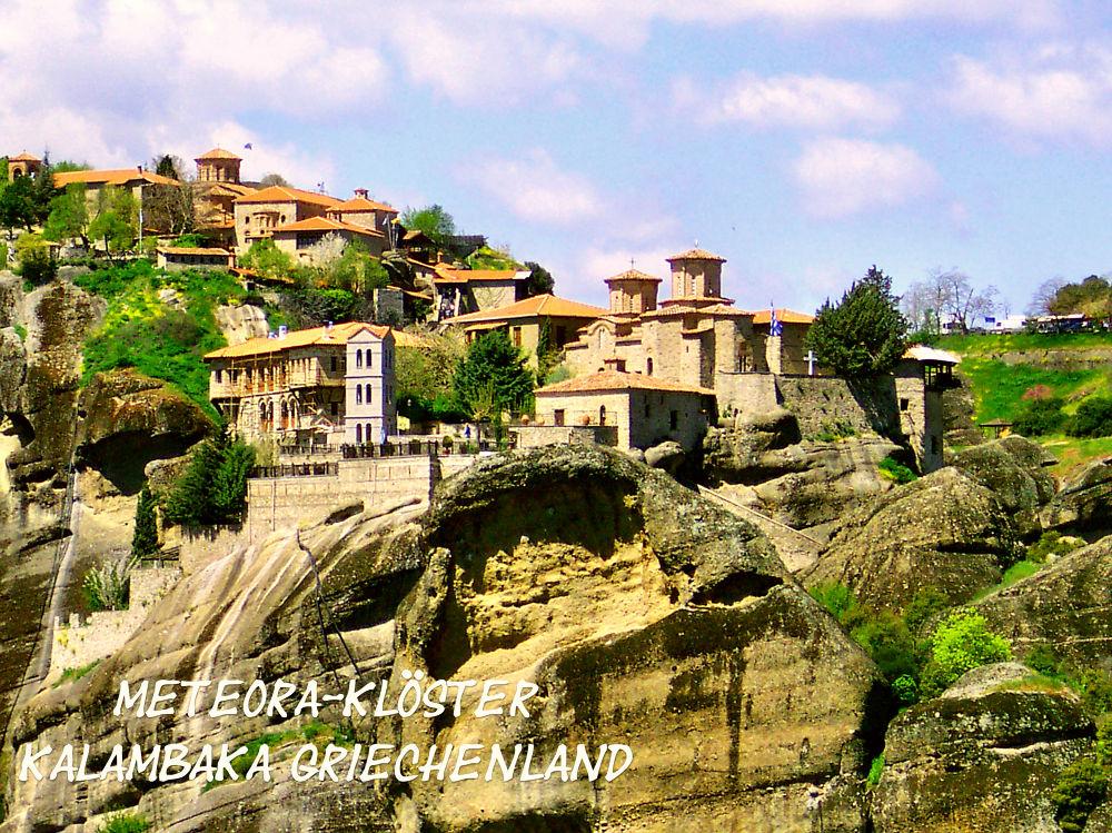 Kalambaka Griechenland by Helmut Schneller