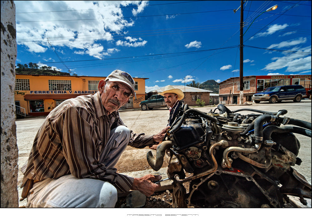 3897_ Mexican faces, the mechanic - Creel Chihuahua, Mexico by massimo benenti