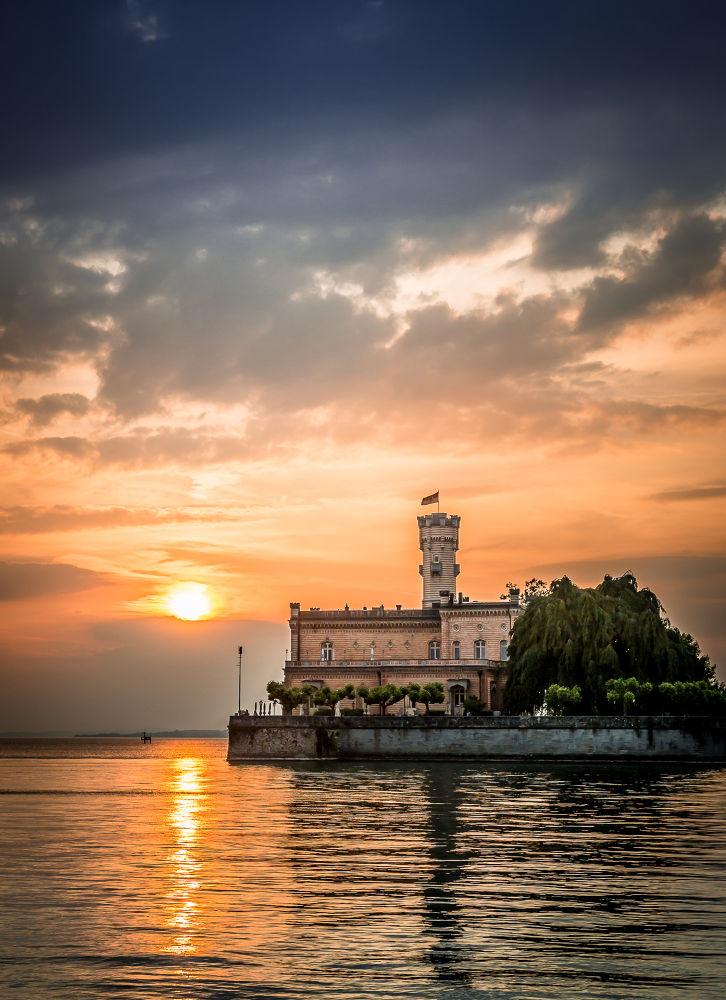Sunset on Castle Montfort by Andreas