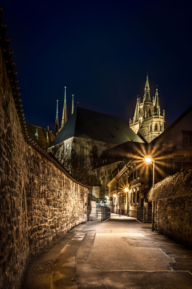 dom for Erfurt at night by Andreas