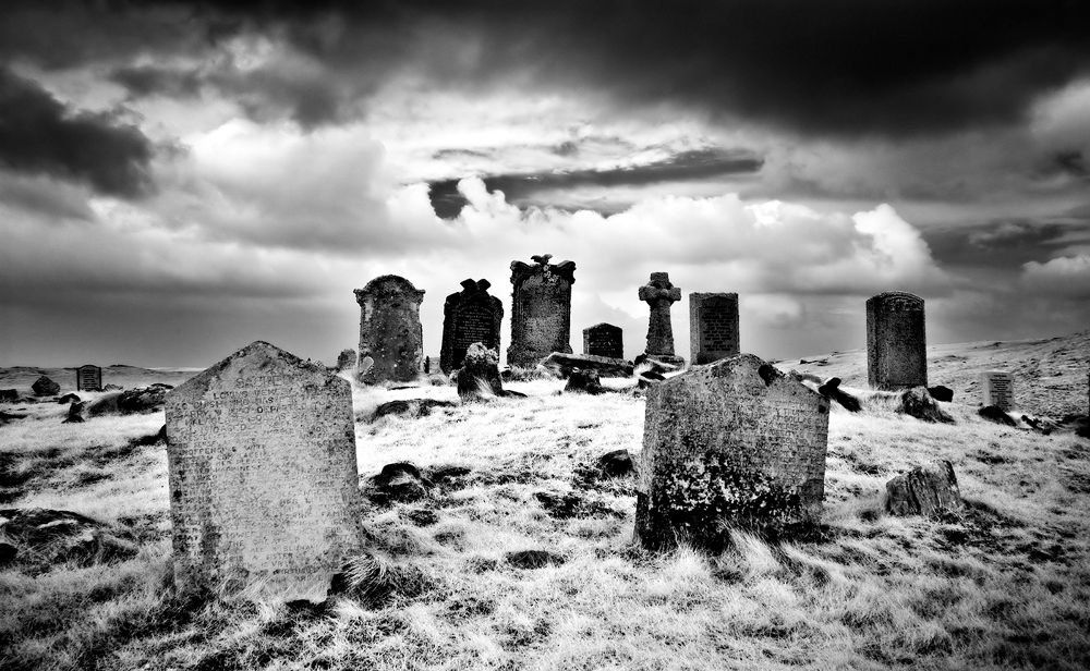 North Uist  Graveyard by Peter Paterson