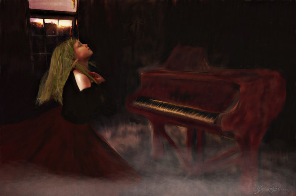 Piano Dancer- Oil painting by Shannon Hreha-kilgore