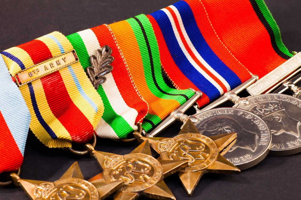 Dad's World War II medals by lilian Lingwood