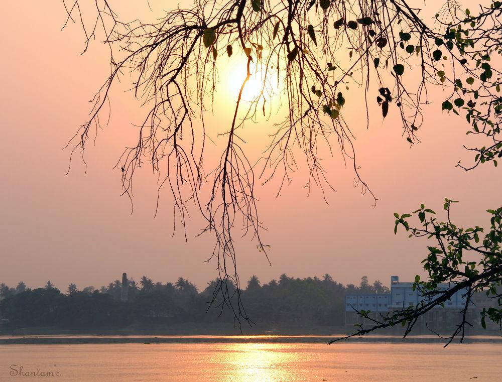 Sunset at the Ganges by Shantam