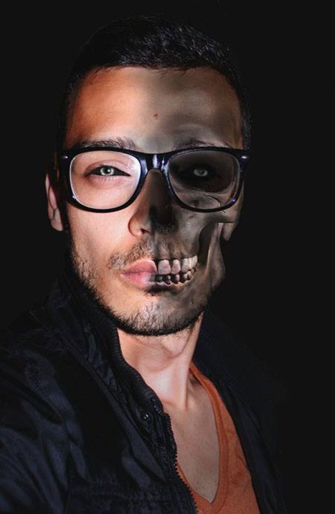 Photo in Random #men #half #skull #people #portrait #emotions #art #eyes