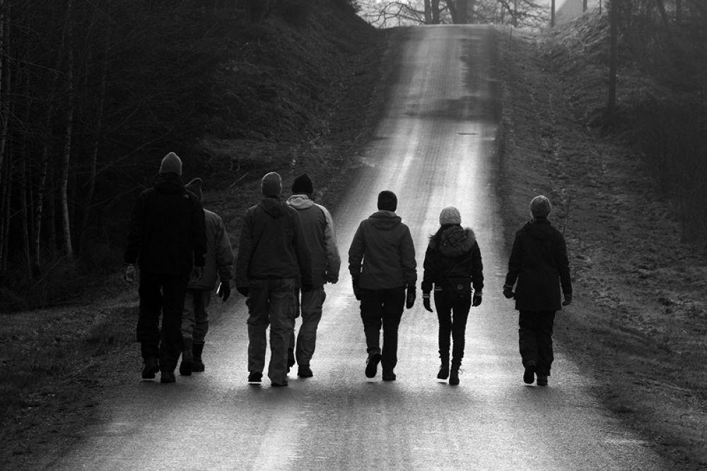 Photo in Black and White #ypa2013 #b&w #walk #way