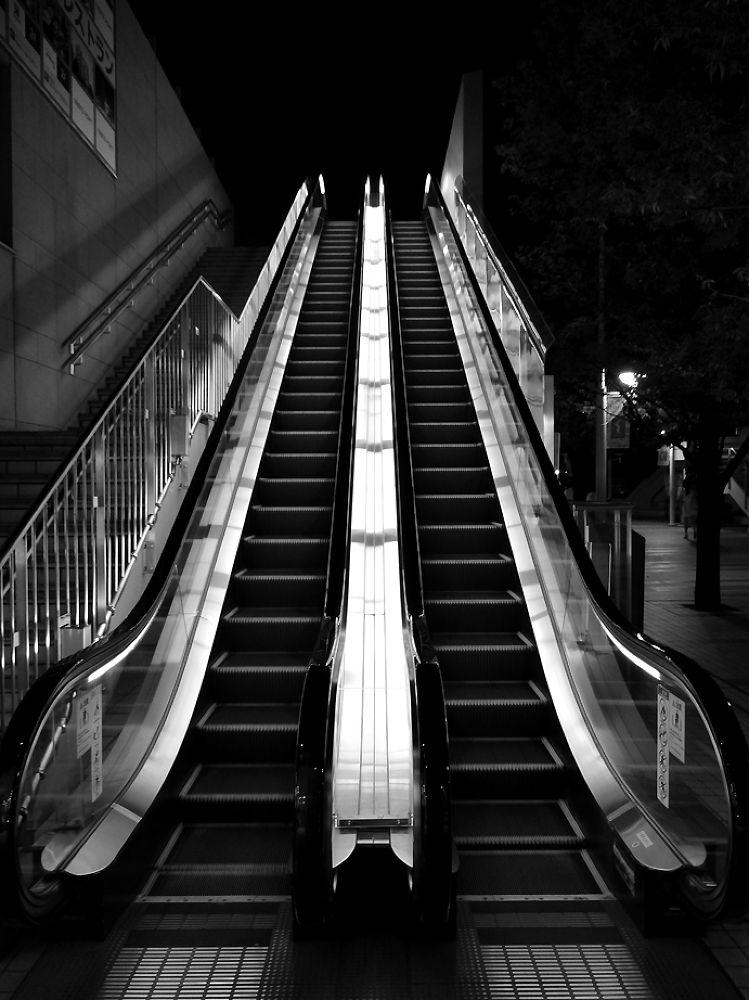 Photo in Random #elevator #tokyo #city #night #crative #escalator