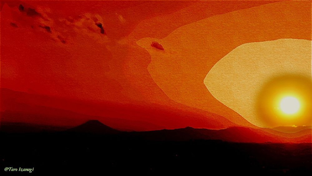 Mt.Fuji Sunset, Artstics Photo by TaroIzanagi