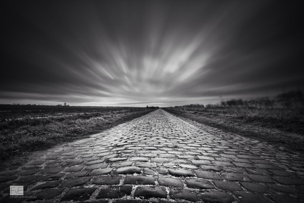Photo in Landscape #cobblestone #cobblestone road #road #old #long exposure #le