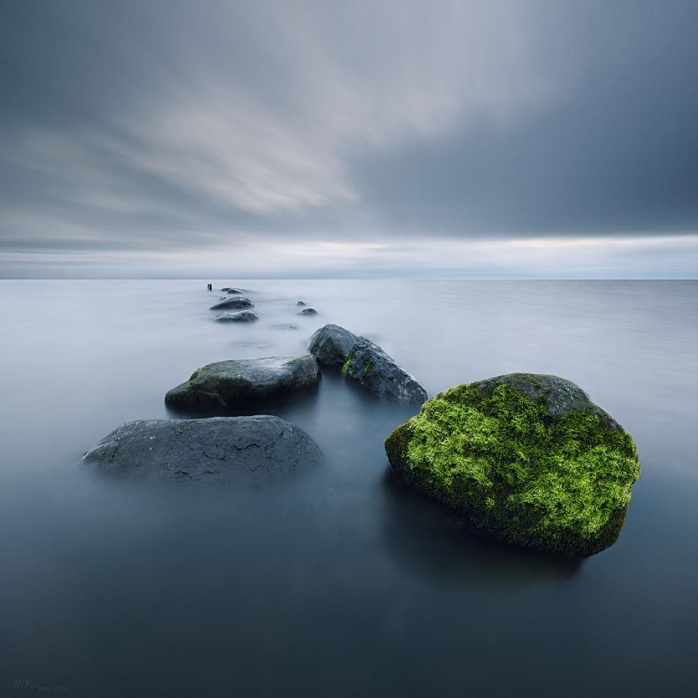 Photo in Landscape #stones #lough neagh #antrim #lake #long exposure