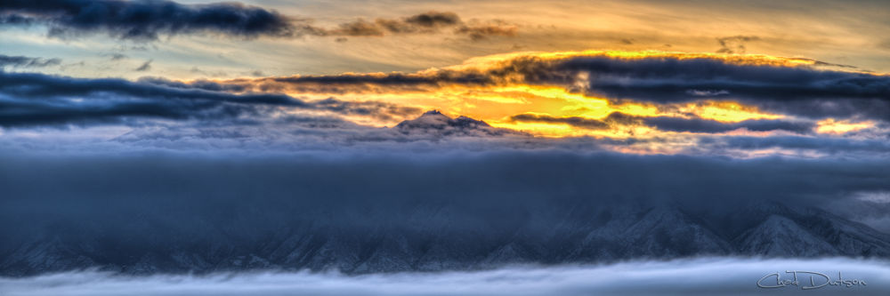 Wasatch Winter Sunrise | 1301-4-1122 by Chad Dutson
