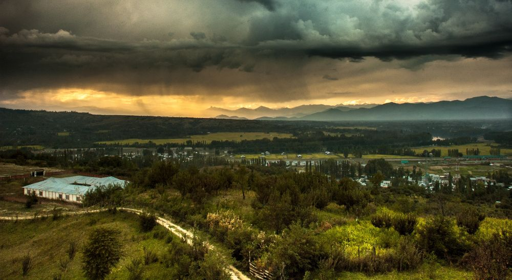 Photo in Landscape #baramulla #sunset #goldenhour #sky #clouds #storm #mountains #green #roads #landscape #ypa2013