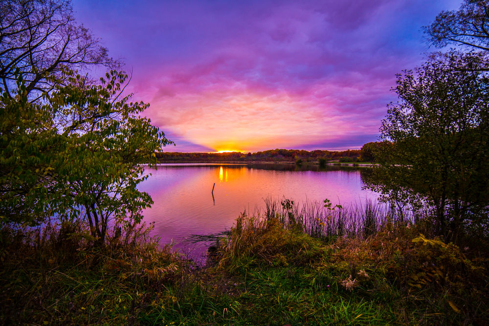 Autumn Sunset at the Lake by studio_21