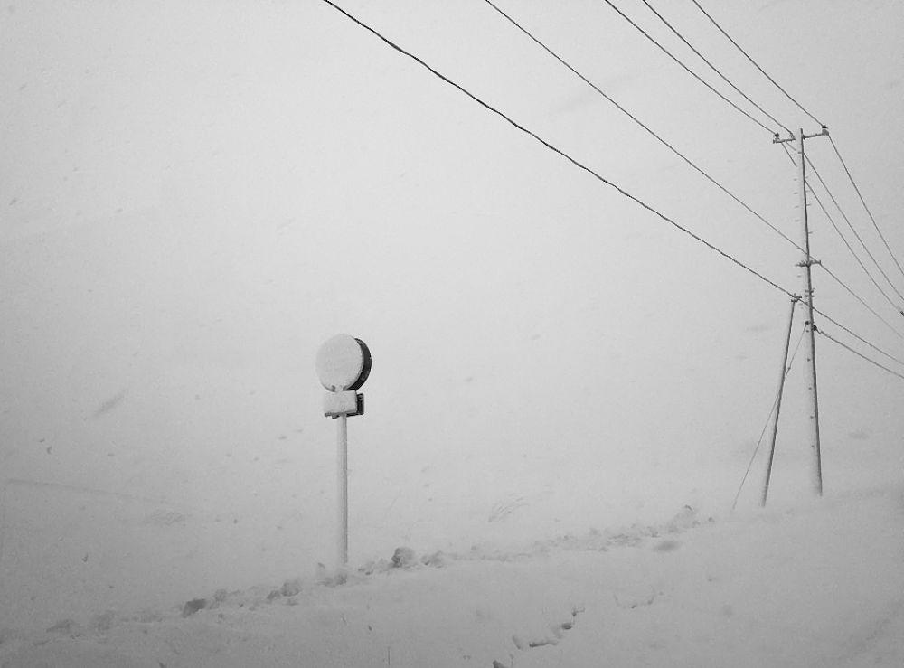 View of snowstorm by Tsutomu Takahashi