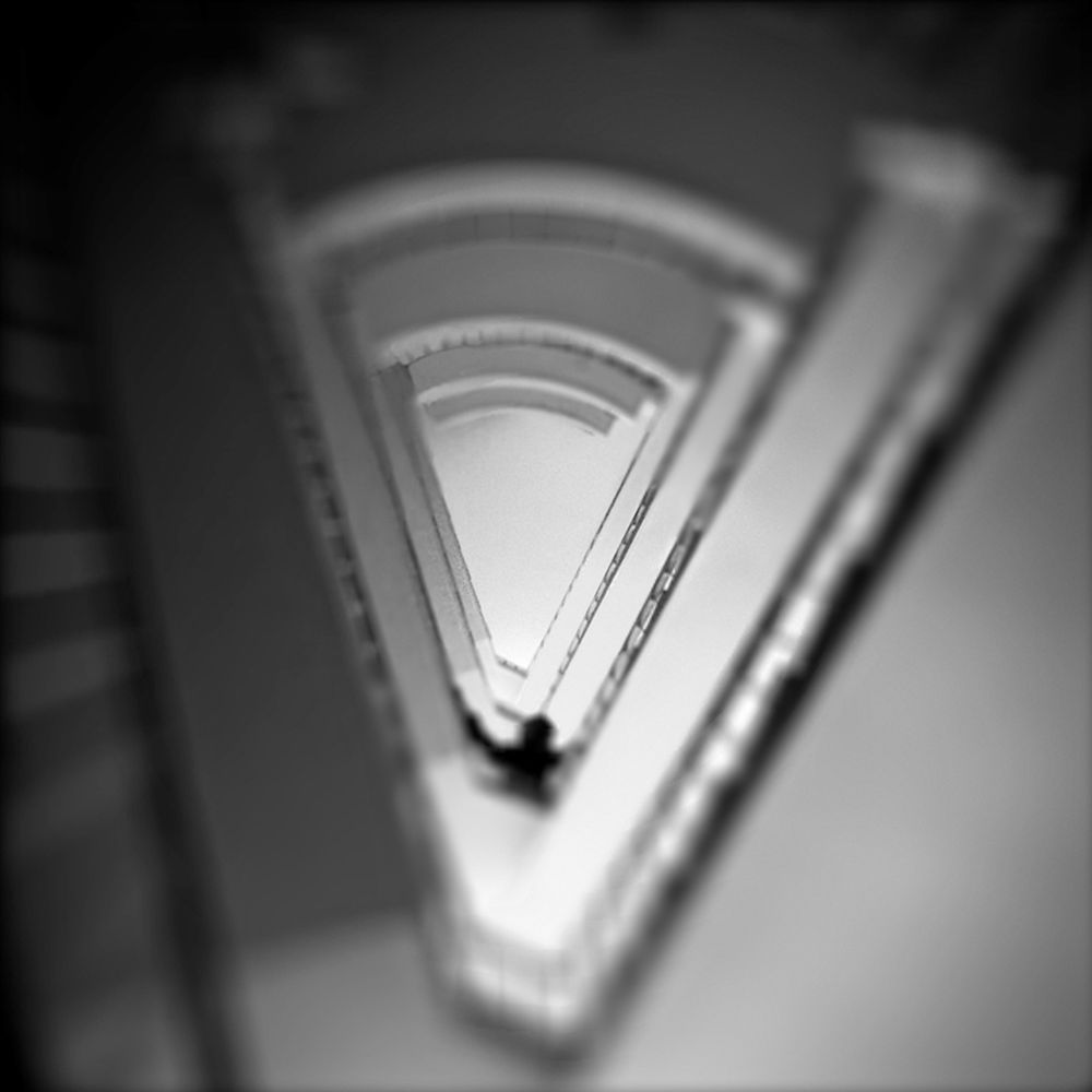 Photo in Black and White #ypa2013 #city #shadow #stairs