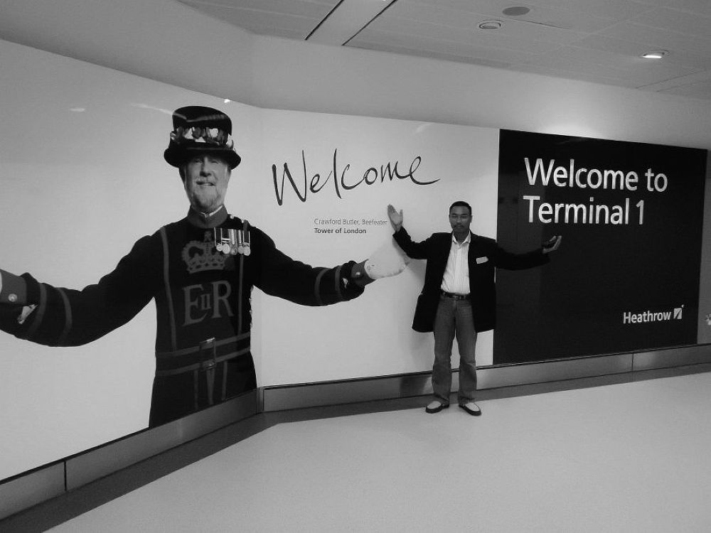 welcome to terminal 1 at heathrow by Mulyatna Pakde