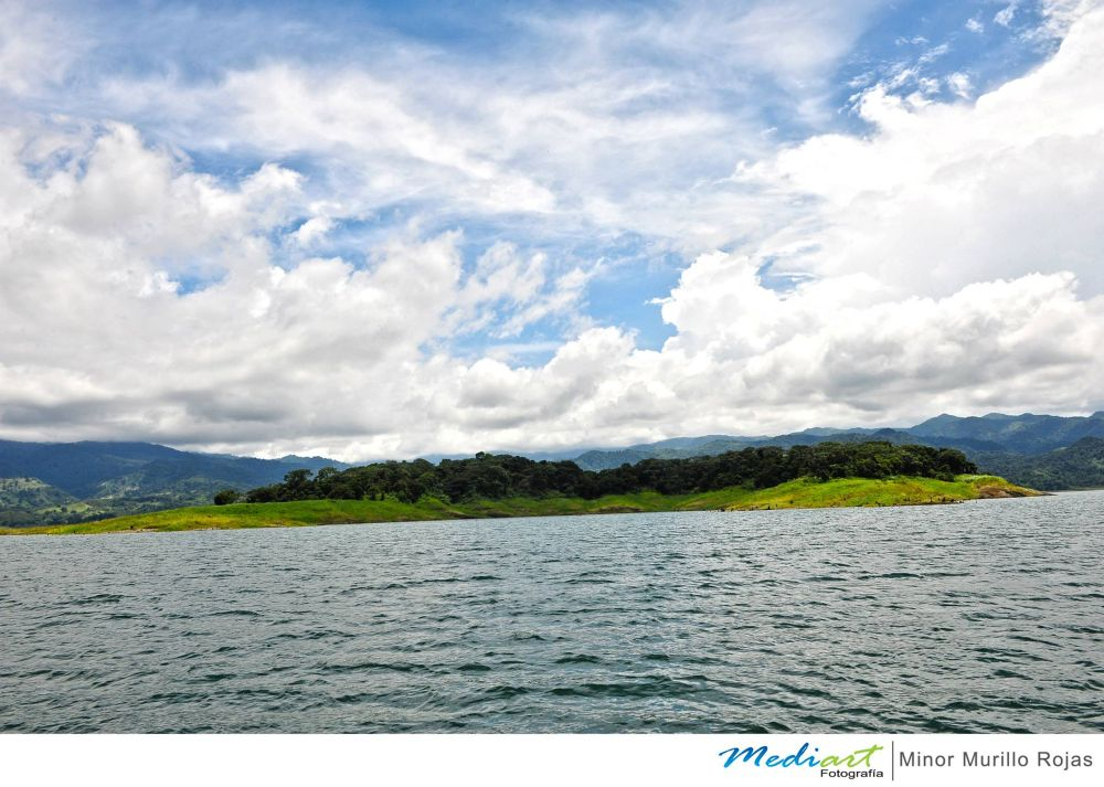 Island on Lake Arenal in Costa Rica by Mediart Photography