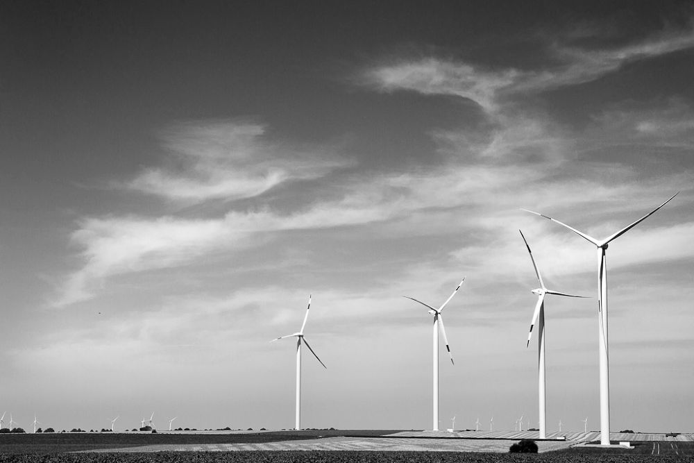b&w windmill by Robert Ernst