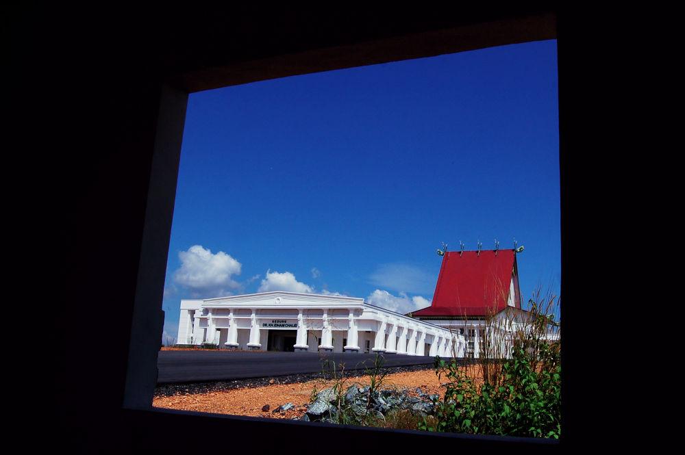 behind a window by Nadi