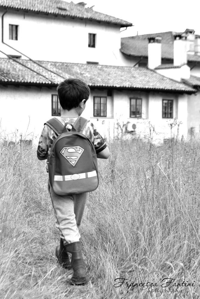 Superman's walking by Francesca Fantini