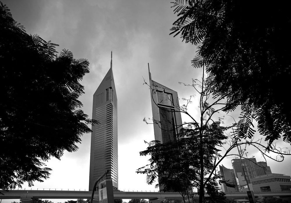 Photo in Black and White #black #white #dubai #fine arts #cityscape #uae