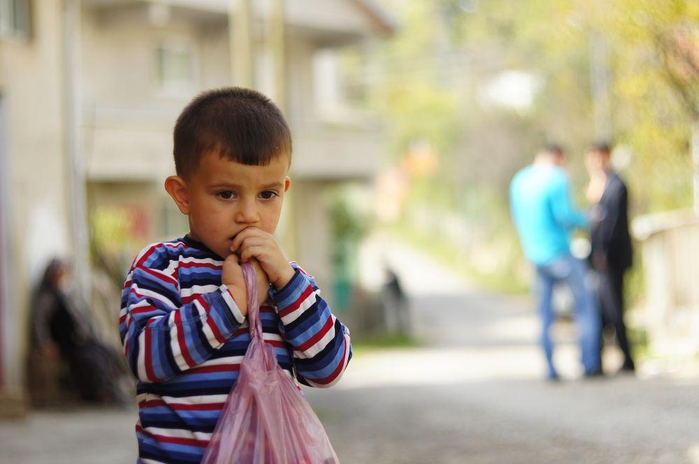 Photo in Portrait #portrait #bokeh #child #emotion