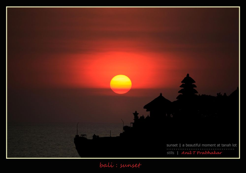tanah lot sunsemtbm by Anil