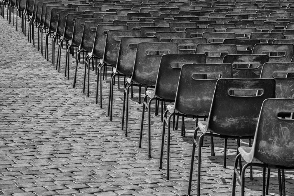 Photo in Random #http://www.rmarks-fotografie.n #http://richardmarks.werkaandem #streetview #rome #italy #italie #sint pieter #stoelen #chairs #black & white #https://www.facebook.com/richa