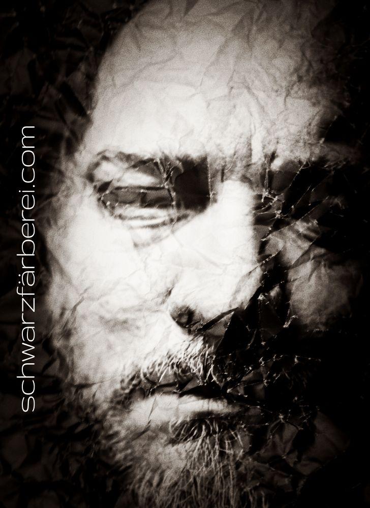 Photo in Portrait #myself #self #crumpled #paper #bw #black #white
