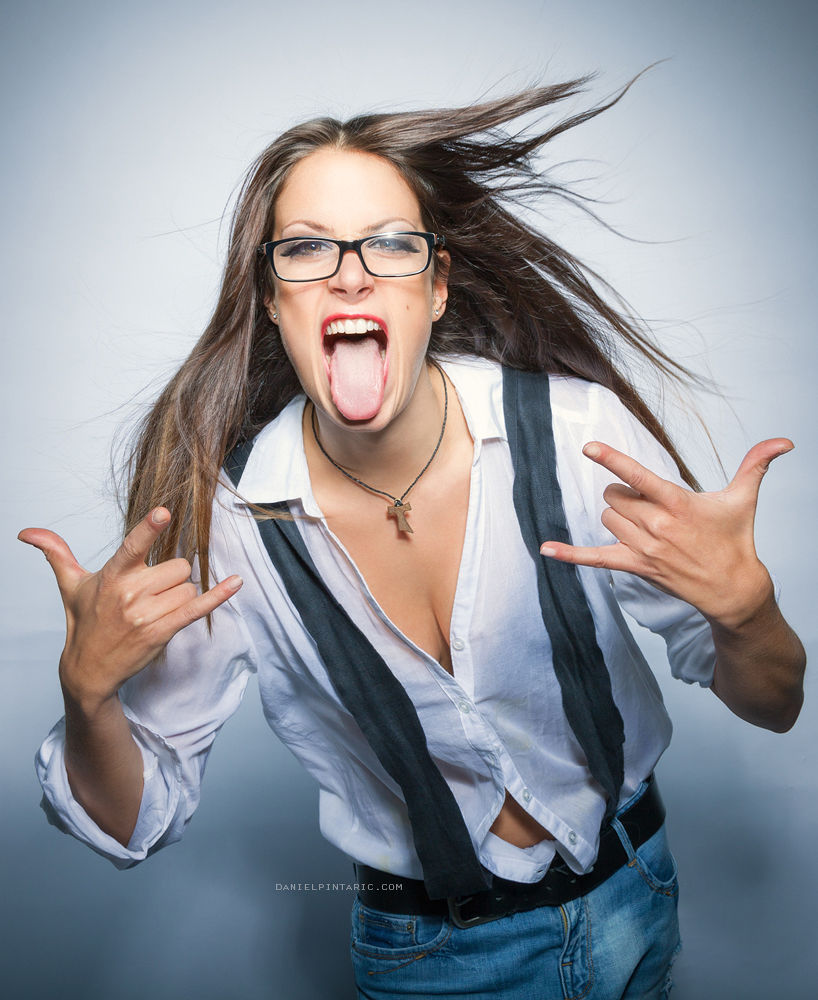 Photo in Portrait #fun #woman #portrait #glasses #beauty #fashion