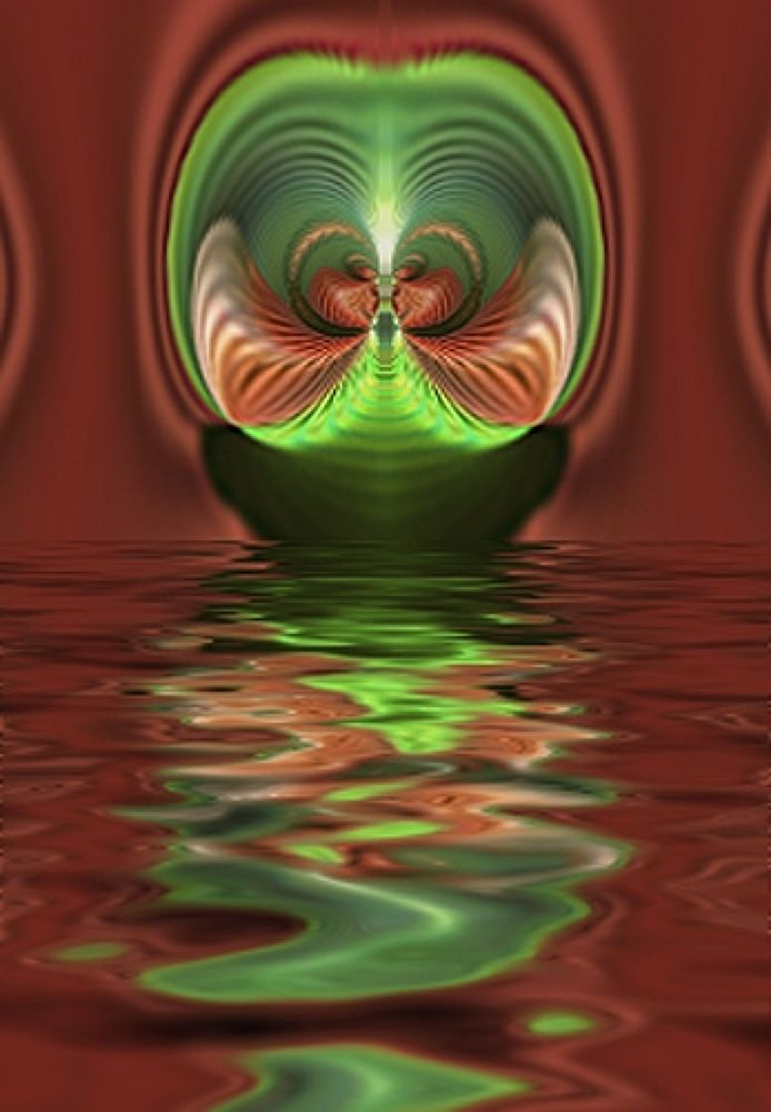 Alien_Sea_in_Red_by_NooYawkGurrl by nooyawkgurrl
