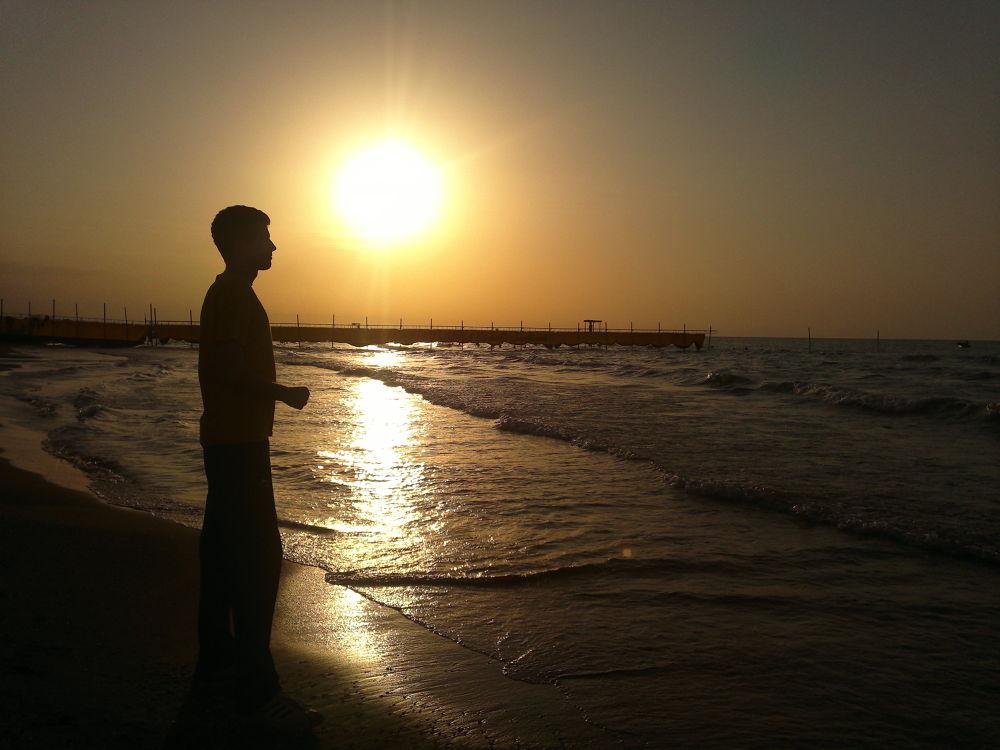 Photo in Landscape #sea #alone #boy #iran #gilan #matak