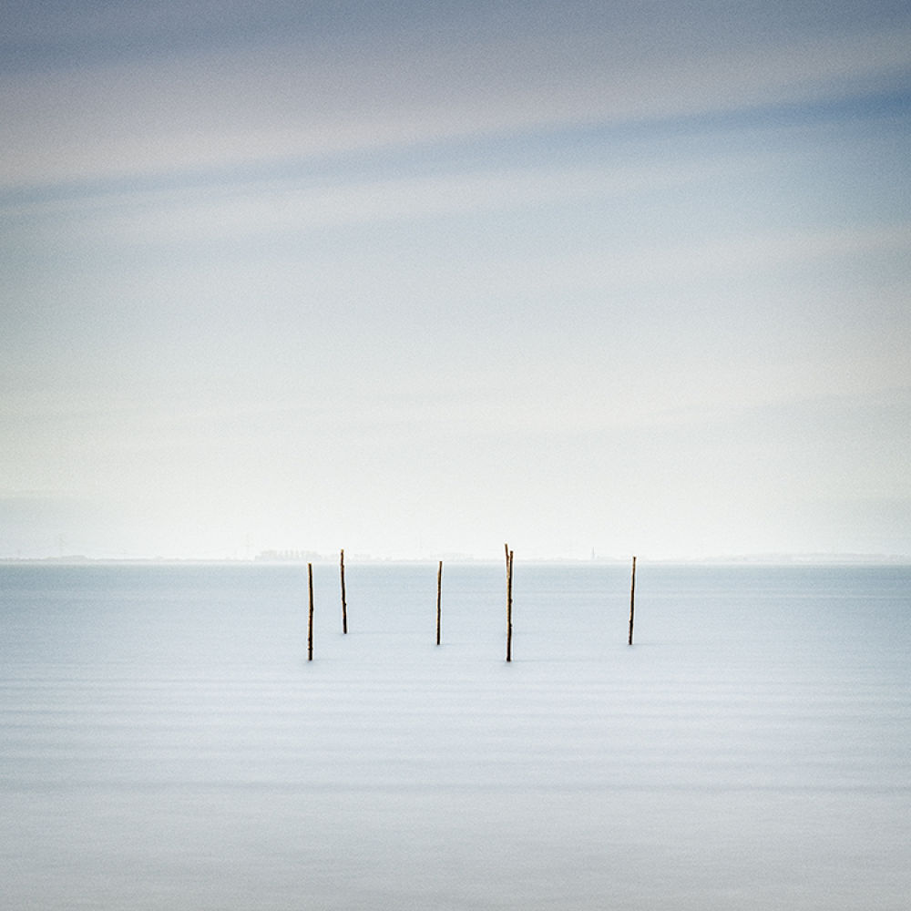 Photo in Landscape #oesterdam #the netherlands #long exposure #poles #d800 #seascape