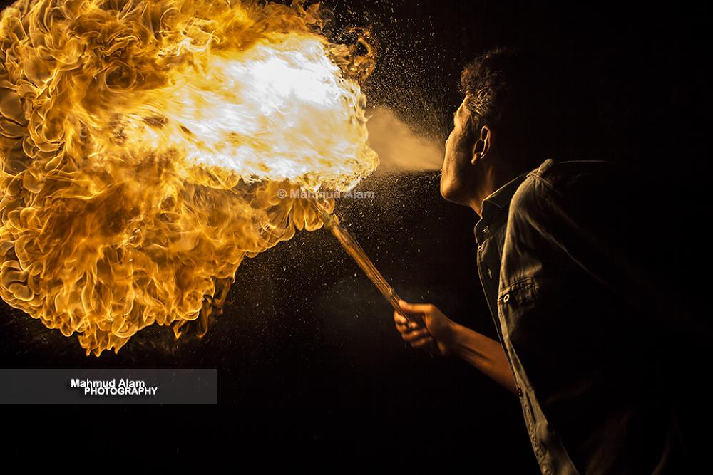 Fire Breathing by MahmudAlam