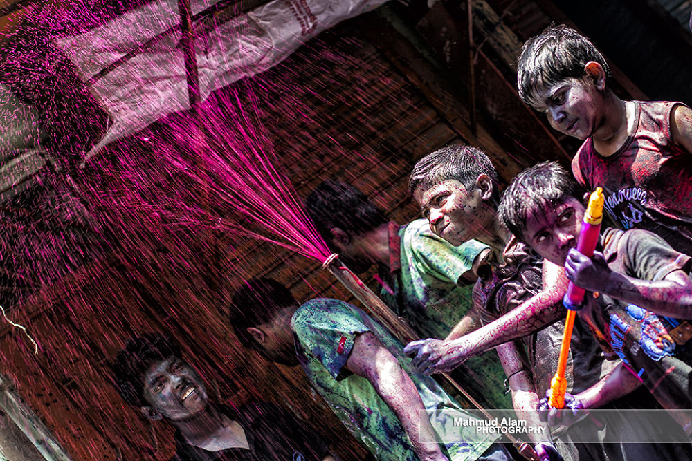 Photo in Random #colors #expressions #holi #kids #playing