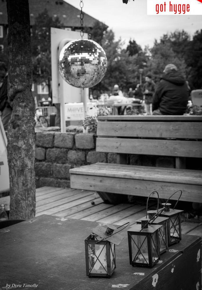Photo in Street Photography #glob #candles #bench #street #gothygge #got #hygge #bw #black and white #copenhagen #kobenhavn