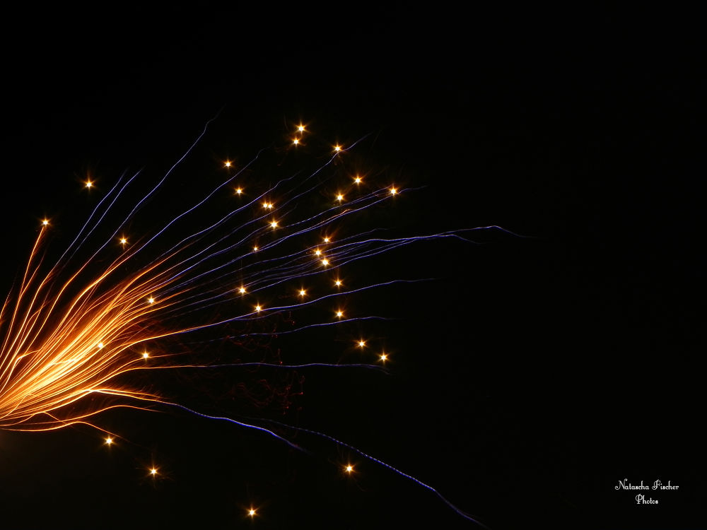 Pyrotechnics on silvester 2013 by Natascha Fischer