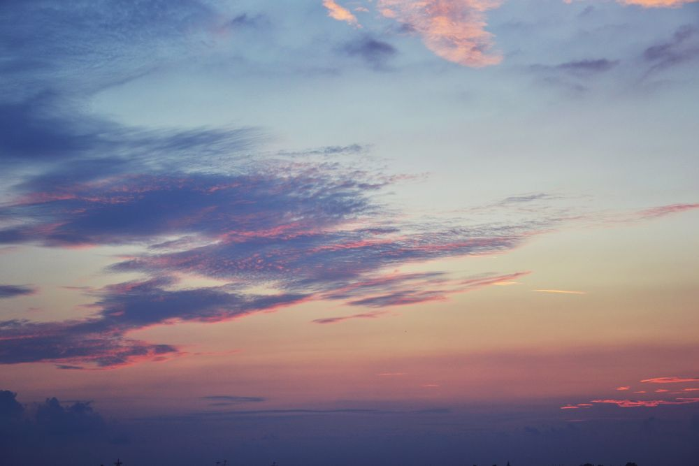 Photo in Random #view #beautiful #pink #clouds #sky #sunset #violet #view from my house