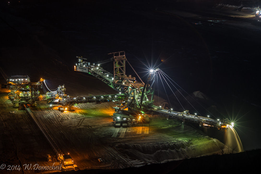 Coal mine by night by wolfdomscheit