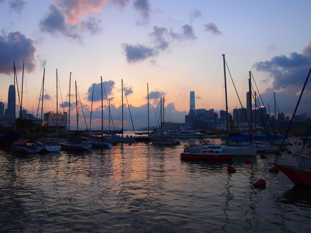 Beautiful Sunset in Royal HK Yacht Club (2013) by Mickey Lee