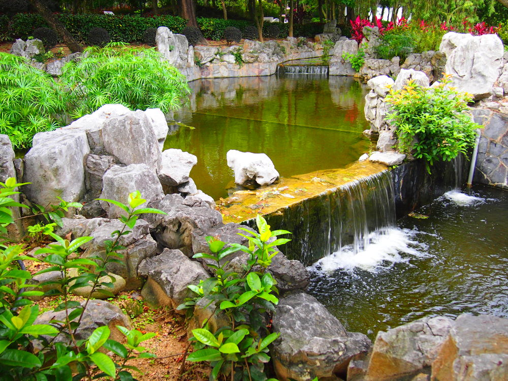 Small Waterfall with Chinese Decoration (2012) by Mickey Lee