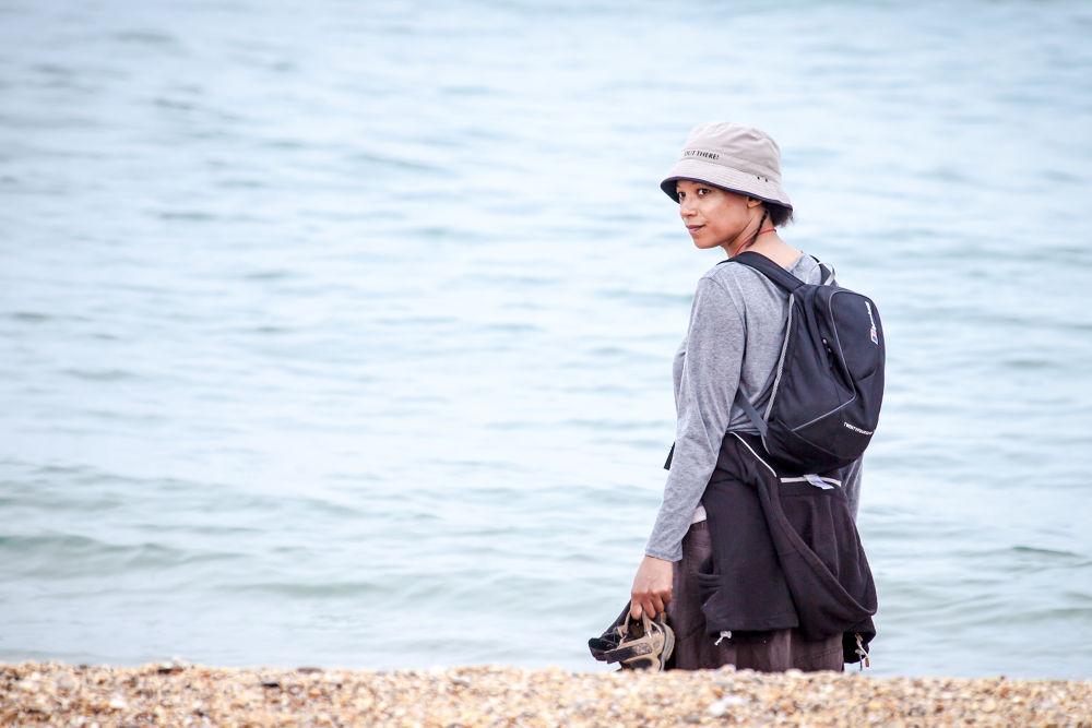 Girl on Beach by RichardKeeling